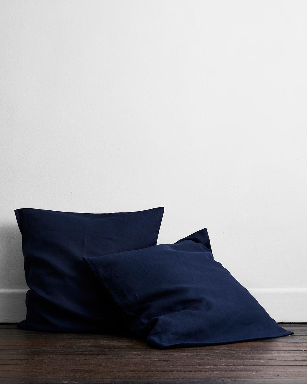 Ink 100% Flax Linen European Pillowcases (Set of Two)