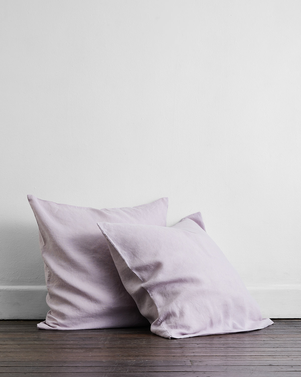 Lilac 100% Flax Linen European Pillowcases (Set of Two)