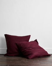 Load image into Gallery viewer, Ruby 100% Flax Linen European Pillowcases (Set of Two)