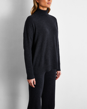 Load image into Gallery viewer, 100% Cashmere Sweater in Charcoal