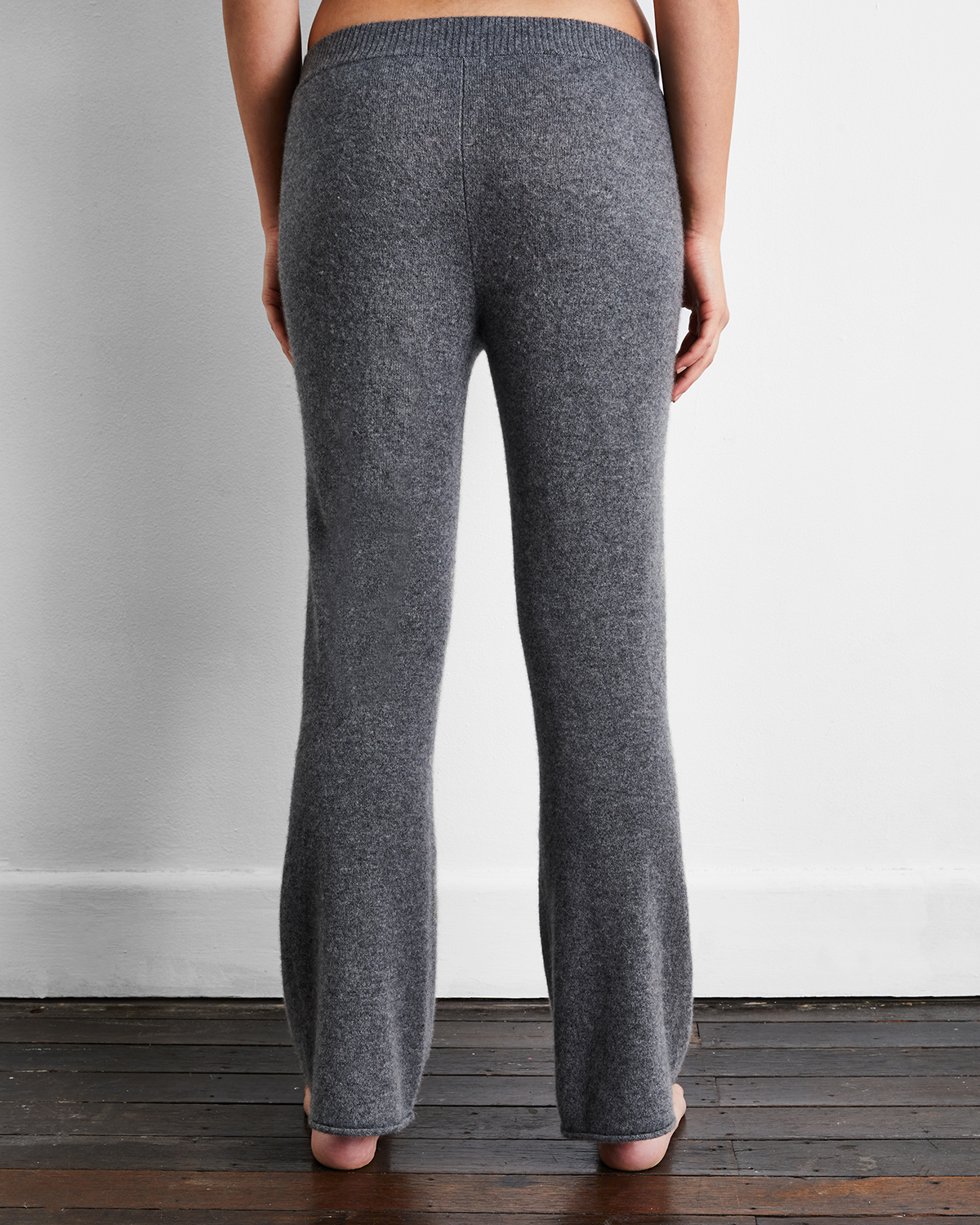 100% Cashmere Pants in Fog