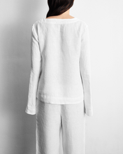 Load image into Gallery viewer, 100% French Flax Linen Top in White