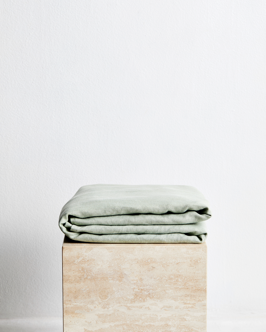 Sage 100% French Flax Linen Throw
