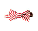 children's red and white bow tie