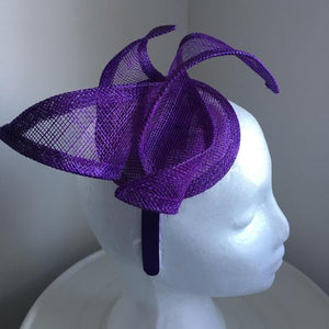 Ruby Purple Fascinator, Kentucky Derby Hat, Wedding Hat, Womens Hat, Tea Party Hat, Royal Millinery, Spring Racing Fashion, KY Oaks Headband