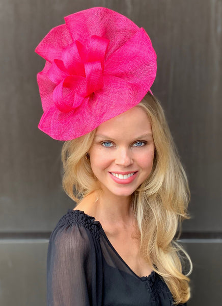 Tia Big Bright Pink Kentucky Derby Fascinator