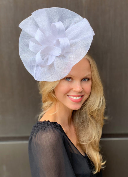 Tia Oversized White Fascinator