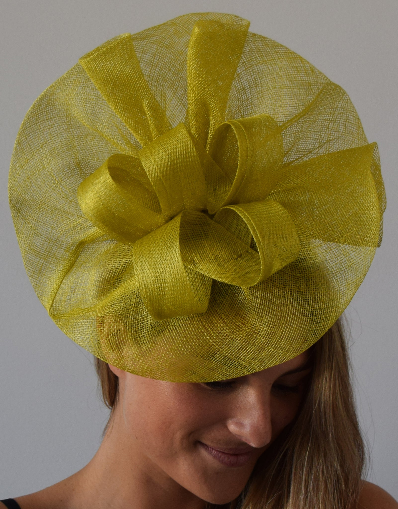 Tia Big Lime Green/Yellow Kentucky Derby Fascinator,Royal Wedding Hat, Spring Racing Headband,Fancy Fascinator Hat Lime,Ladies Tea-Party Hat