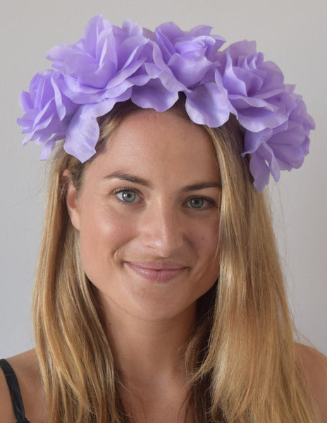 SALE item* Isabella Lilac Purple Flower Crown, Light Purple Fascinator, KY Oaks Headband, Purple Derby Headband, Ladies Tea-Party Headpiece