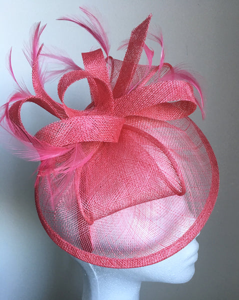 Elsa Candy Pink Fascinator, Kentucky Derby Hat, Spring Racing Fashion 2019, Wedding Hat, Fancy Oaks Headband, Pink Tea Hat, Royal Hats