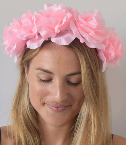 SALE item* Isabella Light Pink Floral Fascinator, Pale Pink Flower Crown, Oaks Fascinator 2019, Flower Headpiece, Kentucky Derby Headband