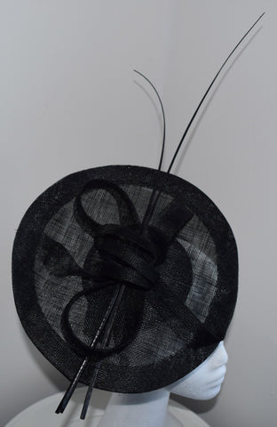 Lulu Black Fascinator, Kentucky Derby Fascinator, Fancy Black Hat, Royal Wedding Hat, Women's Spring Racing Headband, Tea-Party Hat