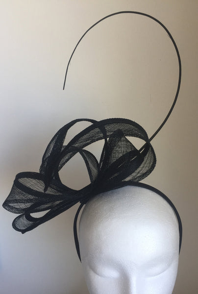 Cassey Black Fascinator, Black Derby Headband, Kentucky Derby Hat, Ladies Wedding Hat, Black Racewear, Tea Hat, Spring Racing Fashion 2019