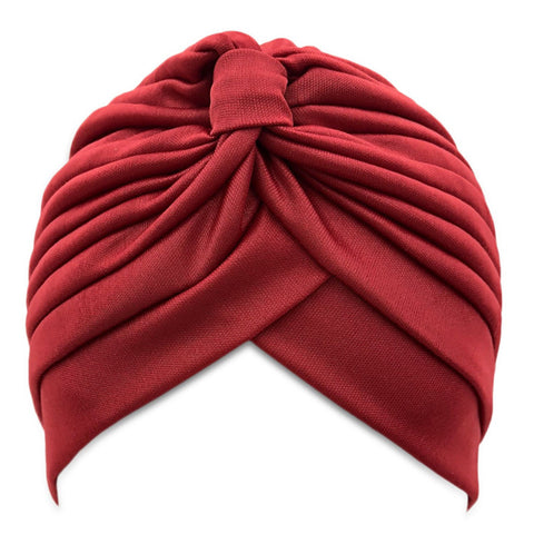 SALE item* Sana maroon vintage turban, head-wrap, lightweight beanie, women's skull cap, stretch chemo cap, ladies cancer hat, muslim hijab