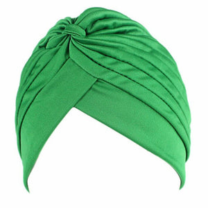 SALE item* Sana green turban, vintage head-wrap, lightweight beanie, skull cap, women's stretch chemo cap, ladies cancer hat, muslim hijab
