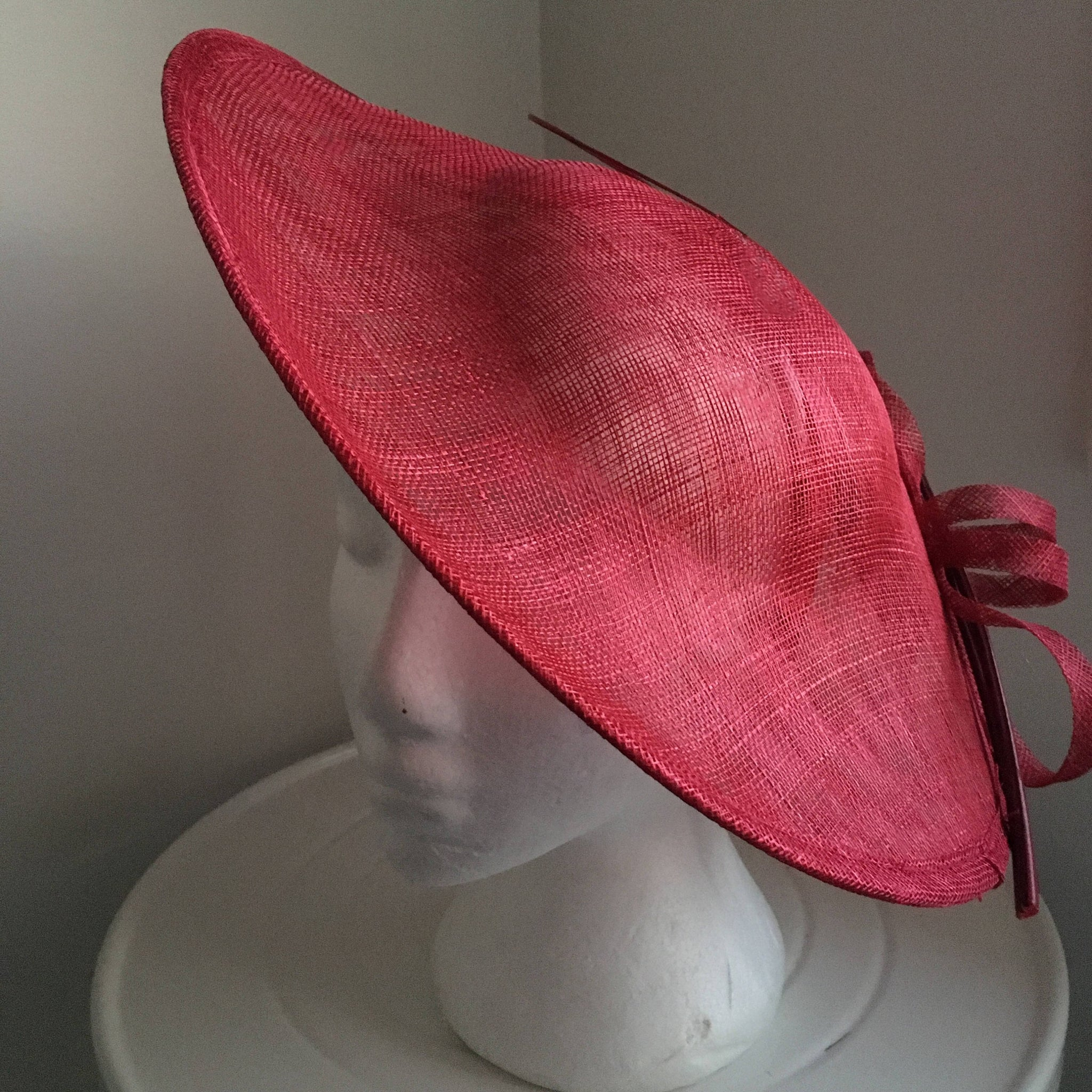 SALE Item* Lydia Maroon/ Cherry Fascinator, Kentucky Derby Fascinator, Royal Wedding Hat Maroon, Saucer Hat Cherry Red, Tea-Party Fascinator Hat, Spring Racing, Hatinator