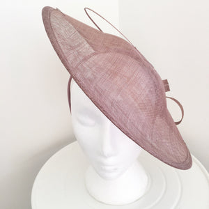 Lydia Taupe Fascinator Hatinator, Kentucky Derby Fascinator, Millinery, Saucer Hat, Tea-Party Hat, KY Oaks Fascinator, Royal Wedding Hats