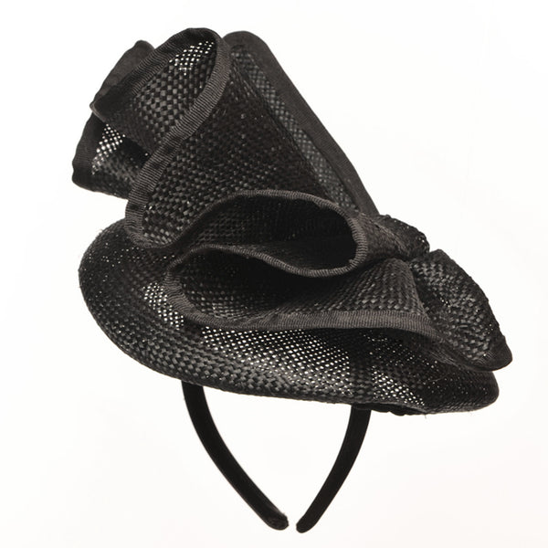 Lucy Black Straw Fascinator, Kentucky Derby Hat, Royal Wedding Hat, Fancy Hats for Women, Tea-Party Fascinator, Spring Racing Fashion 2019