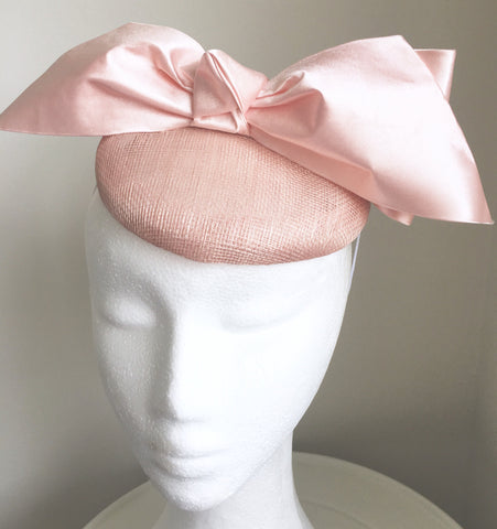 SALE* Trina Pale Pink Derby Hat, Light Pink Kentucky Derby Hat, British Wedding Hat, Royal Fascinator, Pink Oaks Hat, Derby Hats for Women