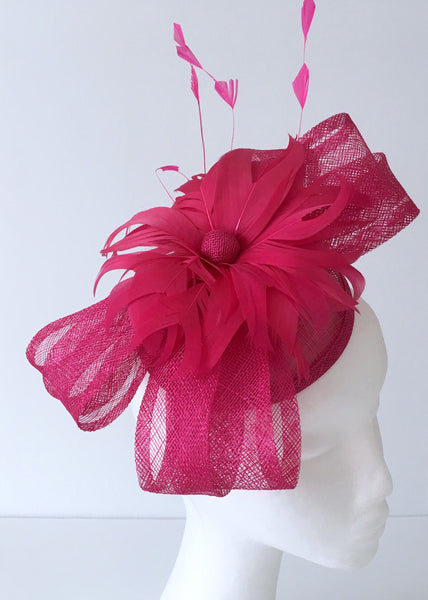 Felicity Bright Pink Fascinator, Kentucky Derby Fascinator Fuchsia, Royal Fascinator, Pink Racewear, Oaks Headband, Derby Fashion 2019