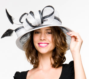 SALE item* Margot Black and White Derby Hat, Kentucky Derby Hat 2019, Fancy Hat Black and White, Women's Derby Hats, Spring Racing, Tea Hat
