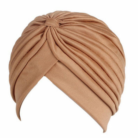 SALE item* Sana beige vintage turban, head-wrap, stretchy bandana, beanie, women's chemo cap, cancer hat, ladies muslim hijab, skull cap