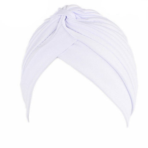 SALE item* Sana white turban head-wrap, vintage hat, lightweight beanie, women's fashion skull cap, stretch chemo cap,ladies cancer hat