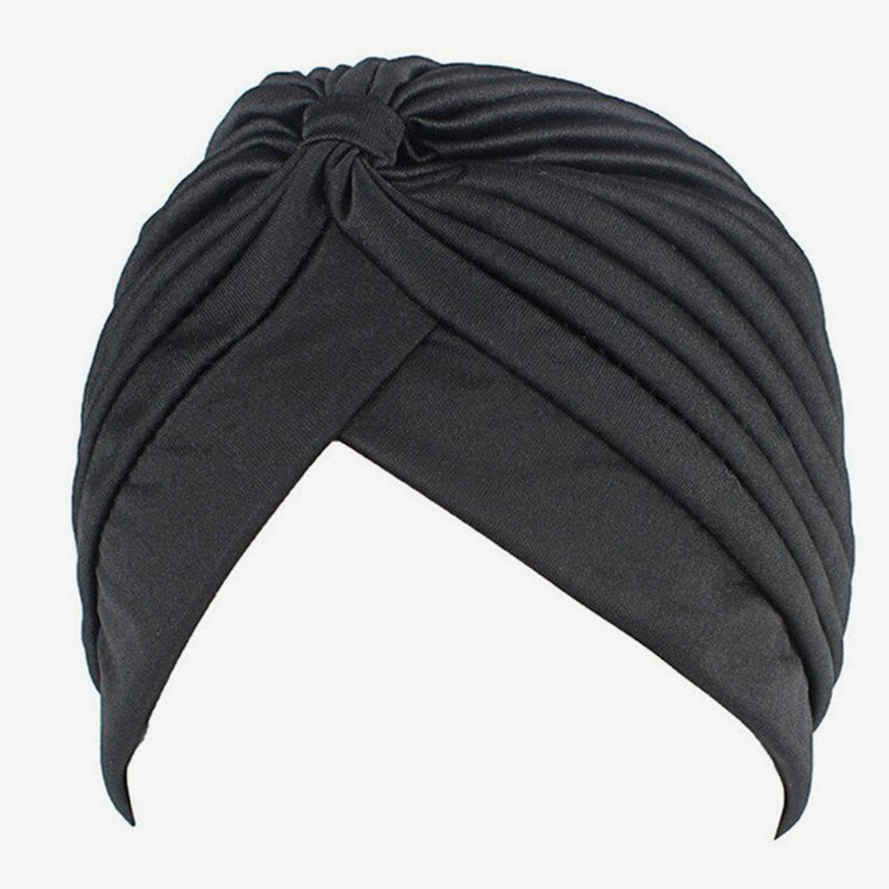 SALE item* Sana ladies black turban, vintage head-wrap, lightweight beanie, stretch headband,chemo cap,ladies cancer hat, women's skull cap