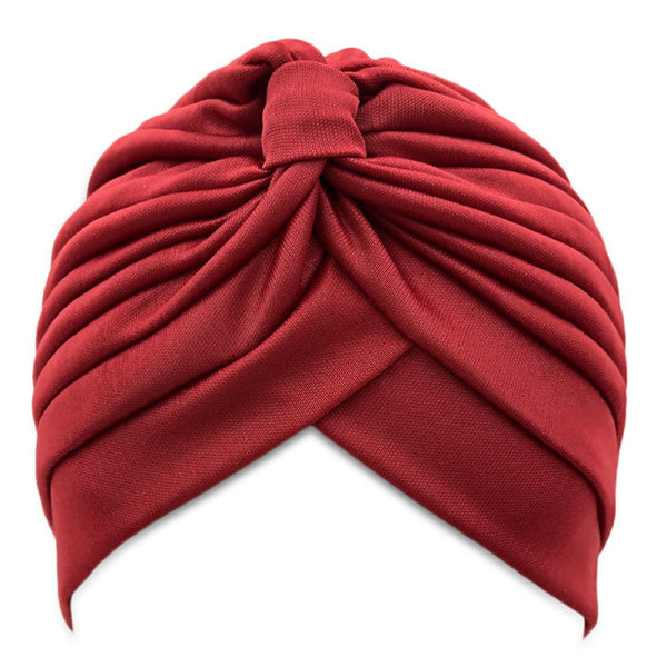 SALE item* Sana red head-wrap, fashion turban, vintage headwrap, twist beanie, women's stretch headband, red chemo cap, ladies bandana