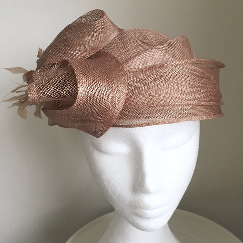 Anouk Taupe Fascinator Hat, Kentucky Derby Hat, KY Oaks Fascinator, Spring Racing Fashion 2019, Royal Wedding Hat, Tea-Party Millinery
