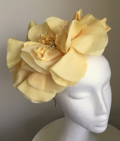 Madeline Sorbet Yellow Derby Fascinator, Butter Yellow Kentucky Derby Fascinator, Royal Hat Yellow, Tea-Party Headband, Derby Hats for Women