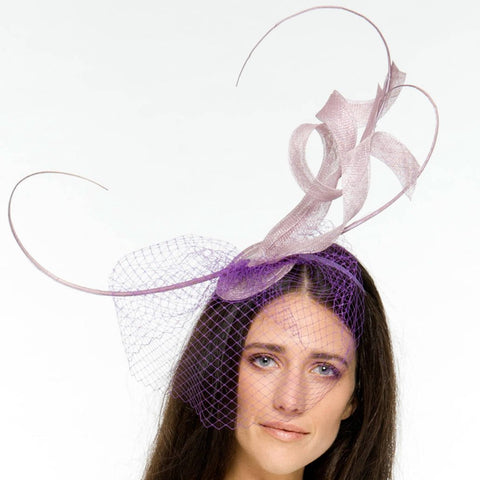 Issy Lilac Light Purple Fascinator, Kentucky Derby Fascinator, Oaks Headpiece, Spring Derby Headband, Lilac Millinery
