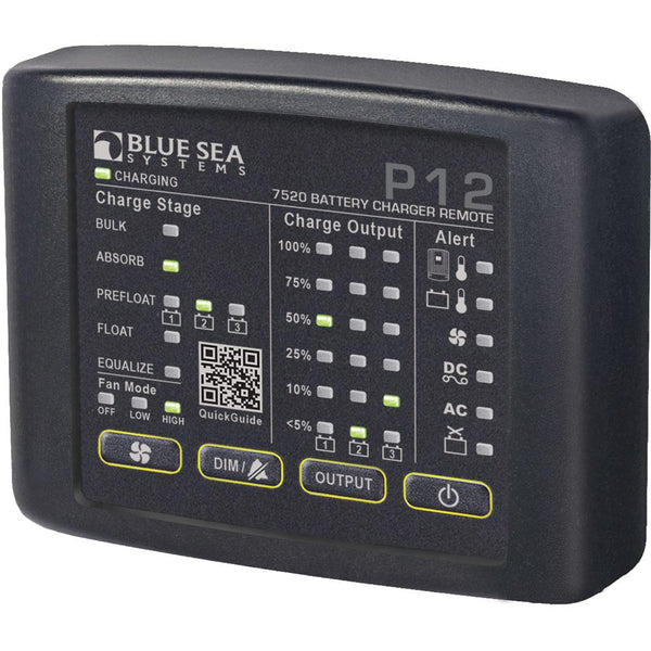 Blue Sea 7520 P12 LED Remote f-Battery Chargers