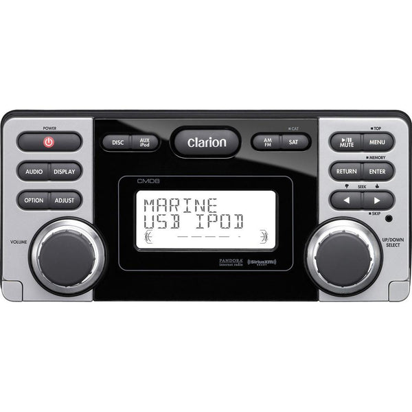 Clarion CMD8 Watertight CD, USB, MP3, WMA, Pandora, SiriusXM, Rear USB
