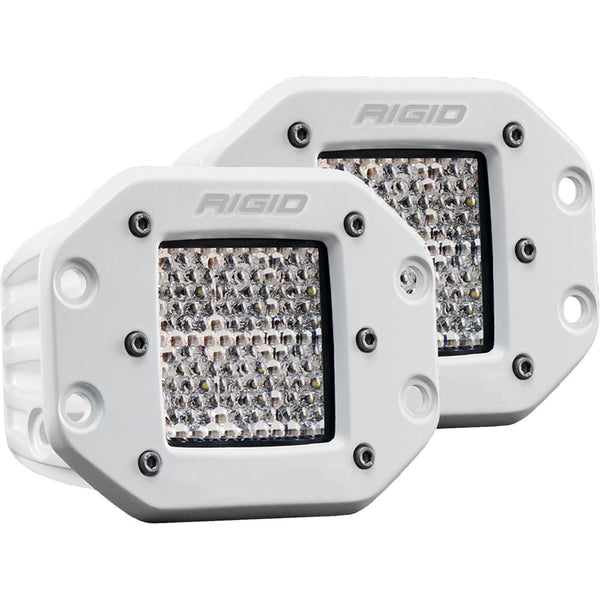 RIGID Industries D-Series PRO Hybrid-Diffused LED - Flush Mount - Pair - White