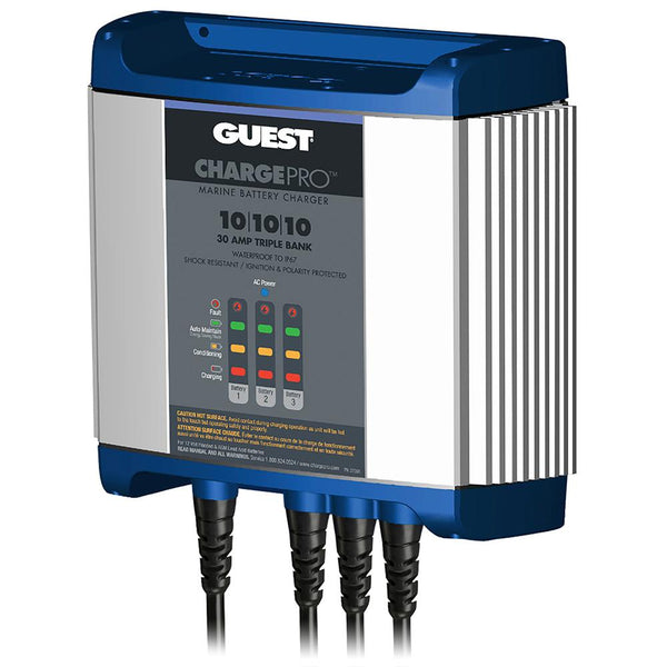 Guest On-Board Battery Charger 30A - 12V - 3 Bank - 120V Input