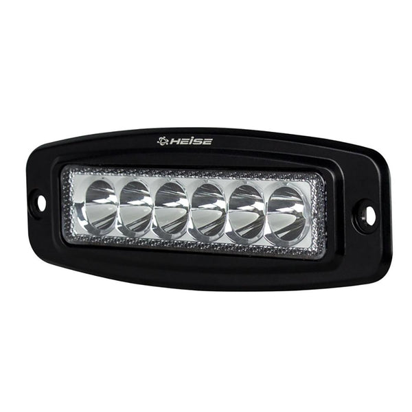 HEISE 6 LED Single Row Driving Light - Flush Mount
