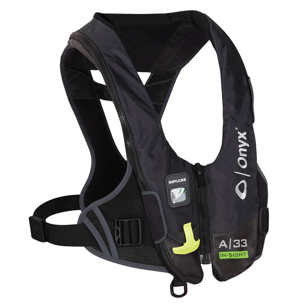 Onyx Impulse A-33 In-Sight Automatic Inflatable Life Jacket (PFD) - Black