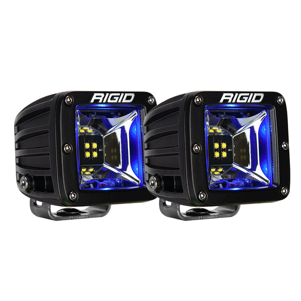 RIGID Industries Radiance Scene Lights - Surface Mount Pair - Black w-Blue LED Backlight