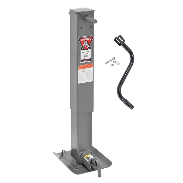 "Bulldog 12,000lbs. Sidewind Heavy Duty Square Jack - 12-1-2"" Travel"