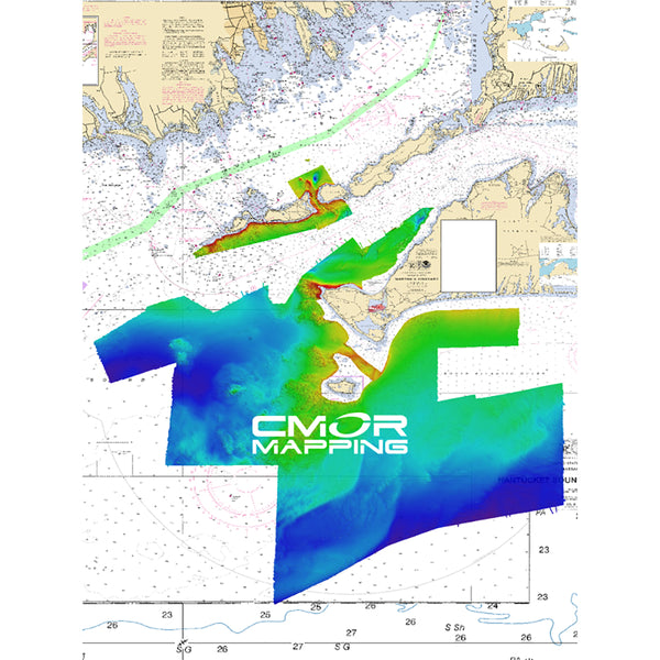 CMOR Mapping Long, Block Island Sound & Martha's Vineyard f-Simrad, Lowrance, B&G & Mercury