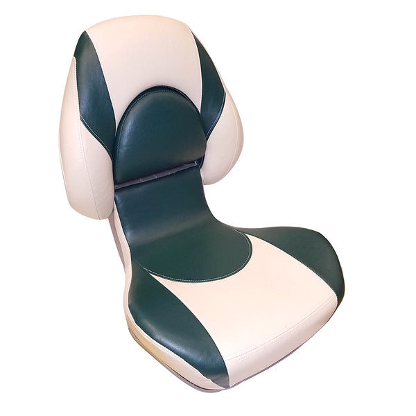 Attwood SAS Centric 2™ Fully Upholstered Seat - Tan-Green