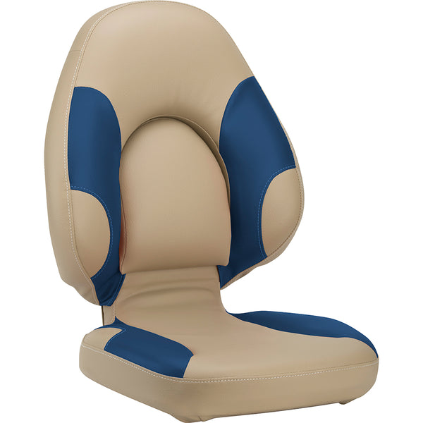 Attwood Centric 96A Boat Seat - Beige-Blue