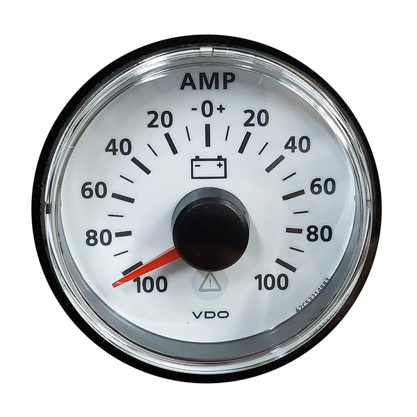 VDO ViewLine Ivory 100A Ammeter - Includes Required Shunt - Bezel NOT Included