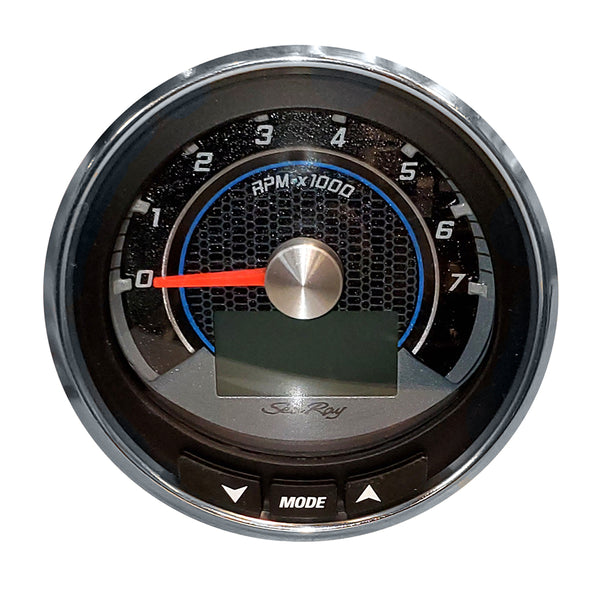 "Faria 4"" Tachometer (7000RPM) MGK3K SmartCraft f-Sea Ray - Black w-Stainless Steel Bezel"