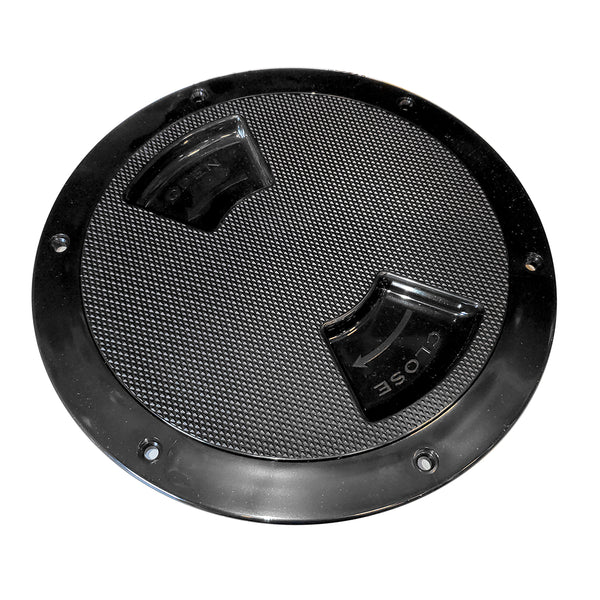Sea-Dog Textured Quarter Turn Deck Plate - Black - 6""