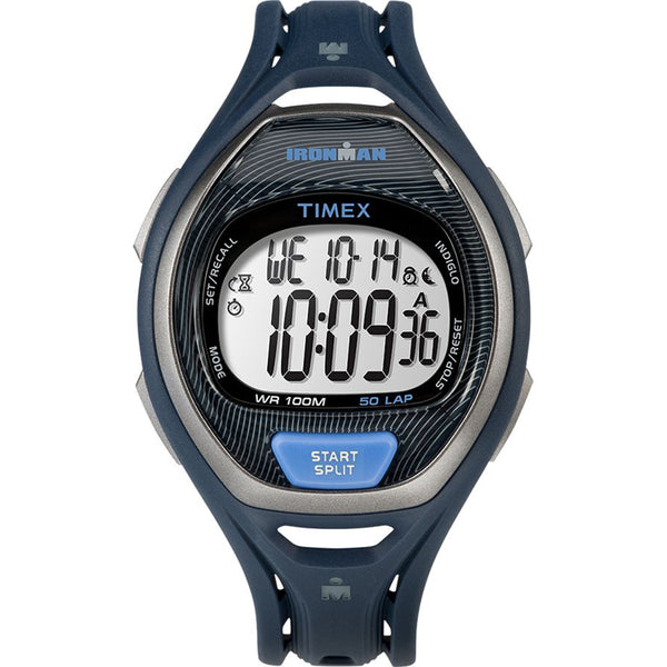 Timex IRONMAN Sleek 50 Full-Size Resin Strap Watch - Blue