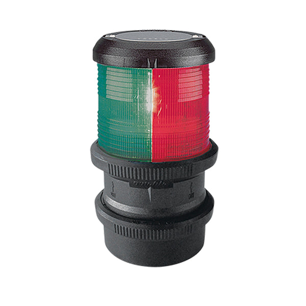 Aqua Signal Series 40 Tri-Color Deck Mount Light w-quicfits - Black Housing