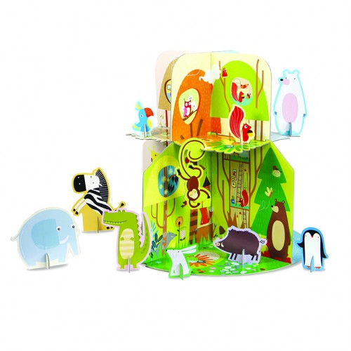 Animal Homes 3D Puzzle and Book