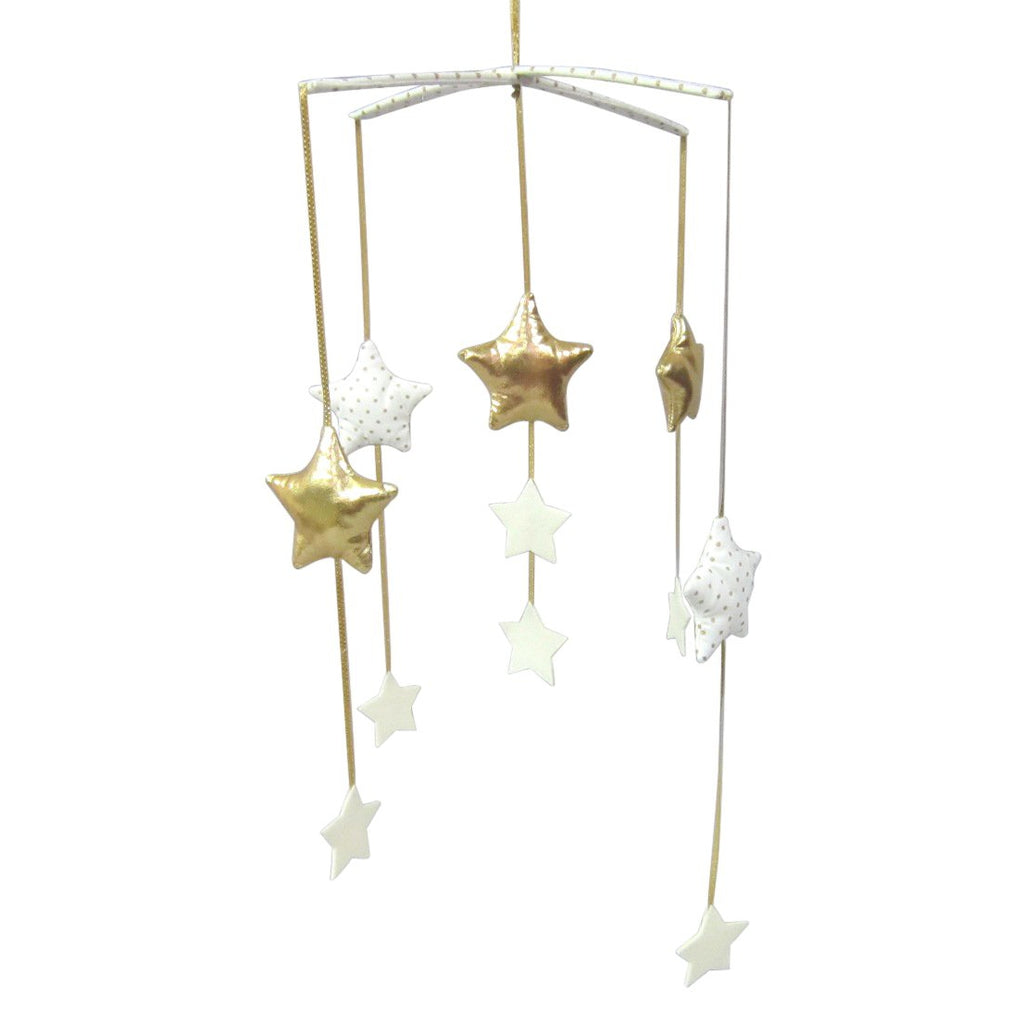 Falling Star Mobile Ivory and Gold